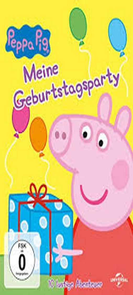 MEINE GEBURTSTAGSPARTY - Peppa Pig DVD  Alemán / Inglés