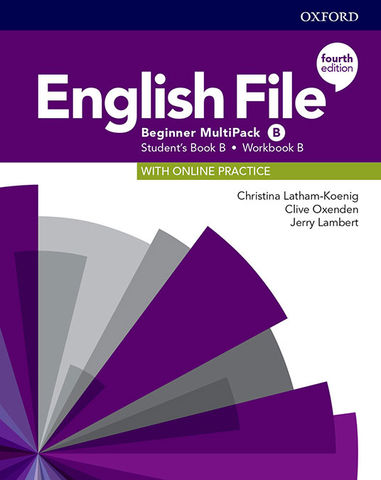 ENGLISH FILE BEGINNER MULTIPACK B SB + Online Practice + WB Key 4th Ed