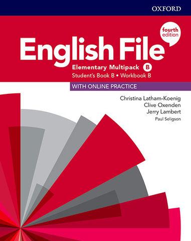 ENGLISH FILE ELEMENTARY MULTIPACK B SB + Online Pract + WB Key 4th Ed