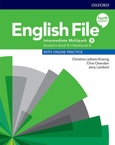 ENGLISH FILE INTERMEDIATE MULTIPACK B SB + Online Prac + WB Key 4th Ed
