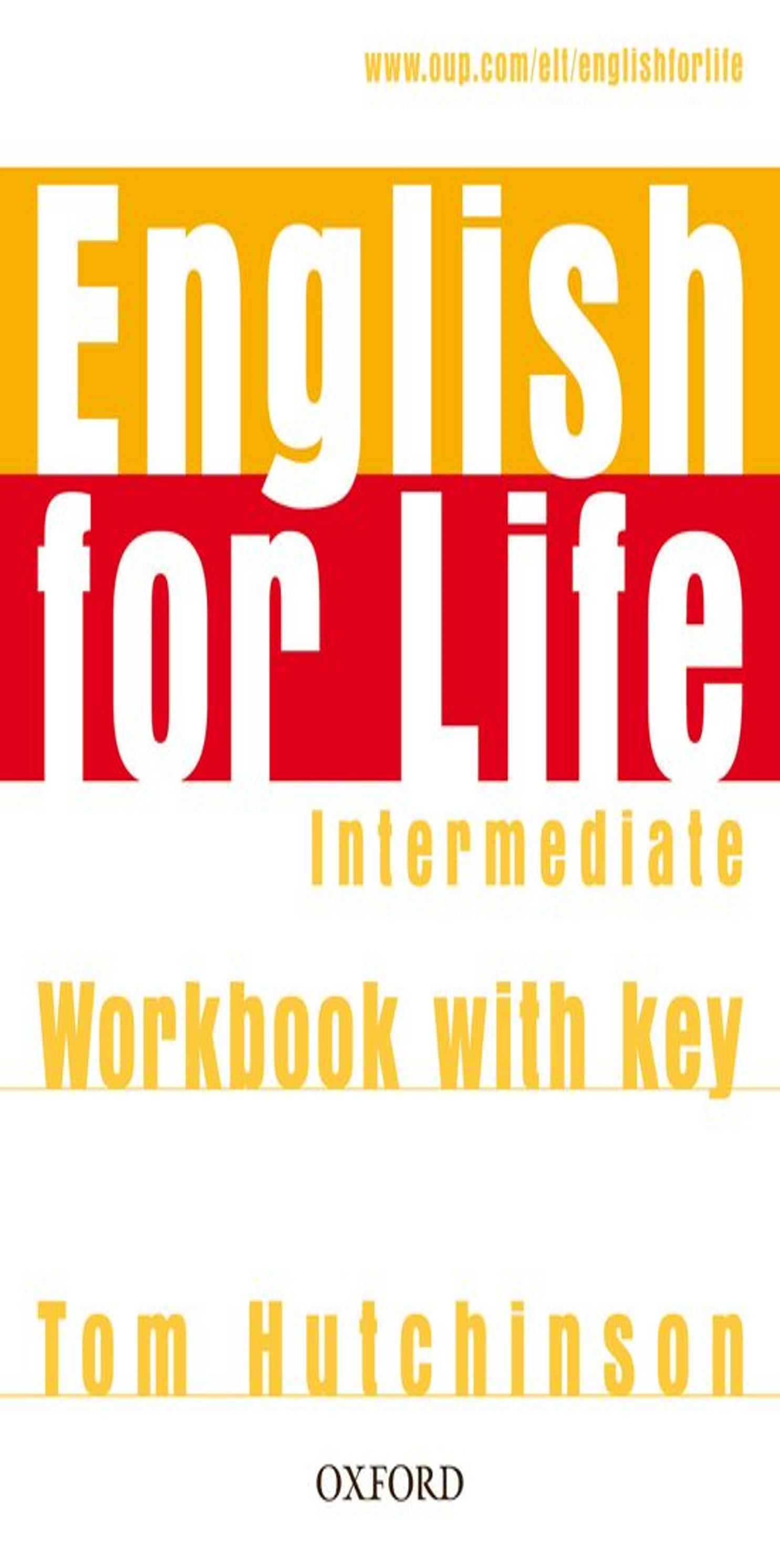 ENGLISH FOR LIFE INTER WB with key