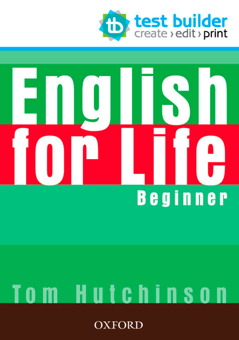 ENGLISH FOR LIFE BEG TEST BUILDER DVD ROM