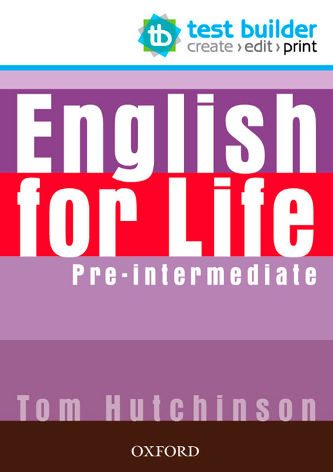 ENGLISH FOR LIFE PRE INTERM TEST BUILDER DVD ROM