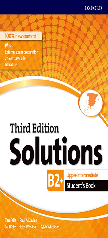 SOLUTIONS UPP-INTERMEDIATE SB 3ºEd