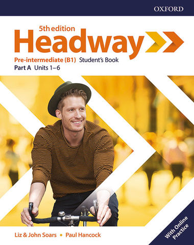 HEADWAY PRE-INTER SB split A + OL PRACTICE  5th edition