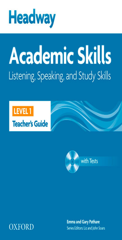 HEADWAY ACADEMIC SKILLS 1 LISTENING, SPEAKING & STUDY SKILLS TB + Test