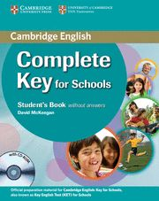 COMPLETE KEY FOR SCHOOLS SB without answers + CD ROM (KET)