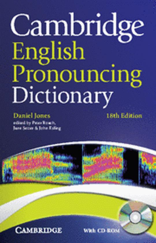 CAMBRIDGE ENGLISH PRONOUNCING DICT + CD ROM 18th Ed Paperback