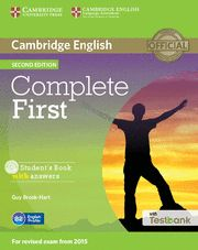 COMPLETE FIRST STUDENT BOOK WITH ANSWERS KEY CD ROM TESTBANK