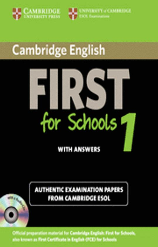 CAMBRIDGE FIRST (FCE) FOR SCHOOLS 1 Self Study Pack CDs (2) Exam Paper