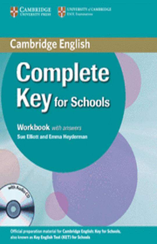 COMPLETE KEY FOR SCHOOLS SB with key + WB with key + CD WB  (KET)