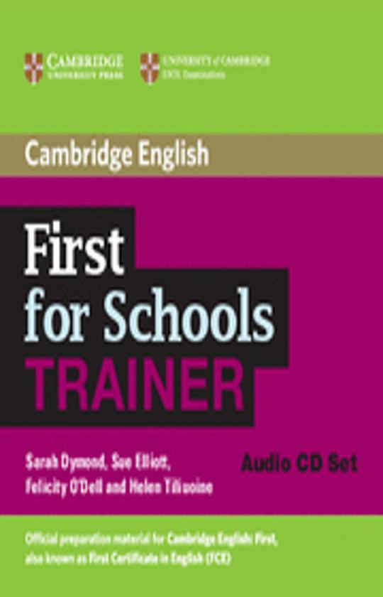 CAMBRIDGE FCE FOR SCHOOLS TRAINER CD