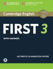 CAMBRIDGE FIRST (FCE) 3 Self Study + Audio  Exam Papers - Upd Exa 2015