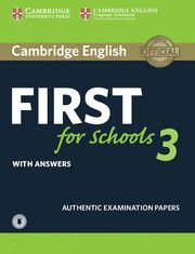 CAMB FIRST FOR SCHOOLS (FCE) 3 Self Study + CD Exam Paper - Up Ex 2015
