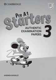 CAMBRIDGE STARTERS 3 Answer Booklet  Exam Papers Revised Exam 2018