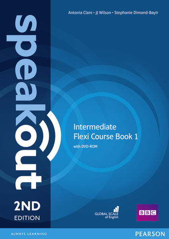 SPEAKOUT INTERMEDIATE Flexi Course Book 1 SB + WB with key + CD 2nd ED