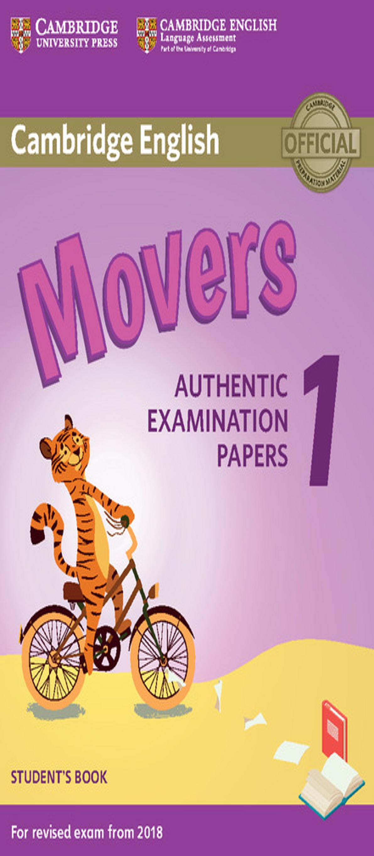 CAMBRIDGE MOVERS 1 SB  Examinations Papers Revised Exam 2018