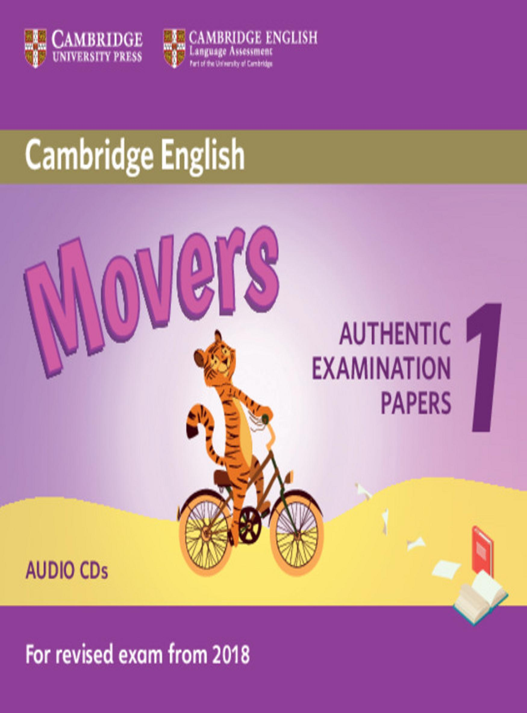 CAMBRIDGE MOVERS 1 CD Examinations Papers Revised Exam 2018