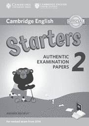 CAMBRIDGE STARTERS 2 Answer Booklet  Exam Papers Revised Exam 2018