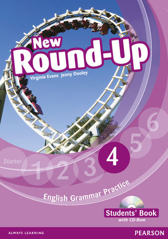 NEW ROUND UP 4 SB + CD ROM  Ed 2010 - English Grammar Book