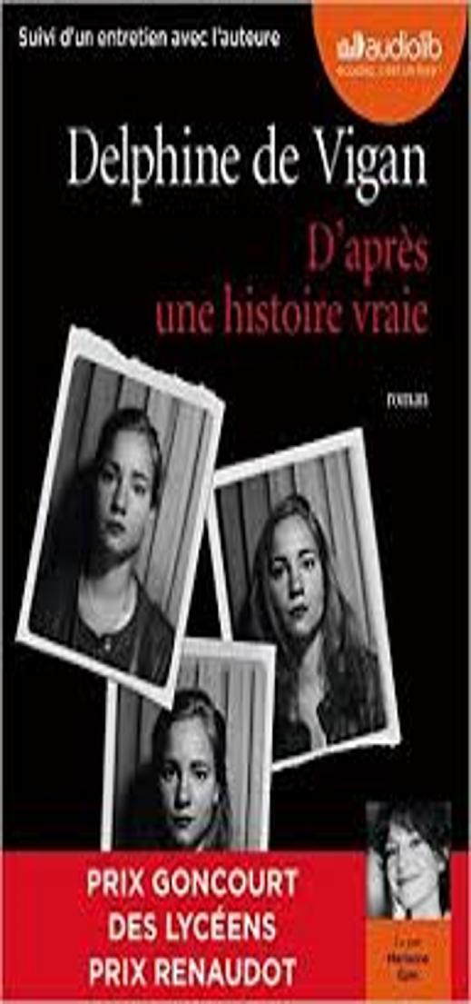D´APRES UNE HISTORIE VRAIE - Livre Audio CD MP3