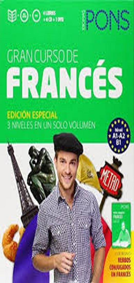 FRANCÉS GRAN Curso PONS Autoaprendizaje 4 Libros + 6 CDs + DVD + Verbo