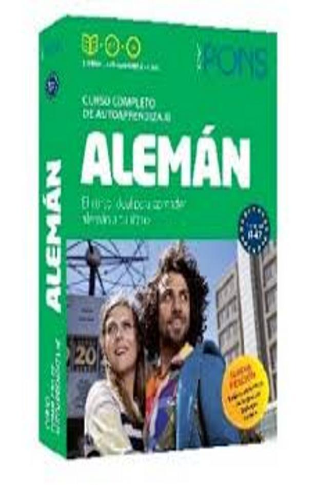 ALEMAN Curso PONS Autoaprendizaje 2 Libros + 4 CDs + DVD