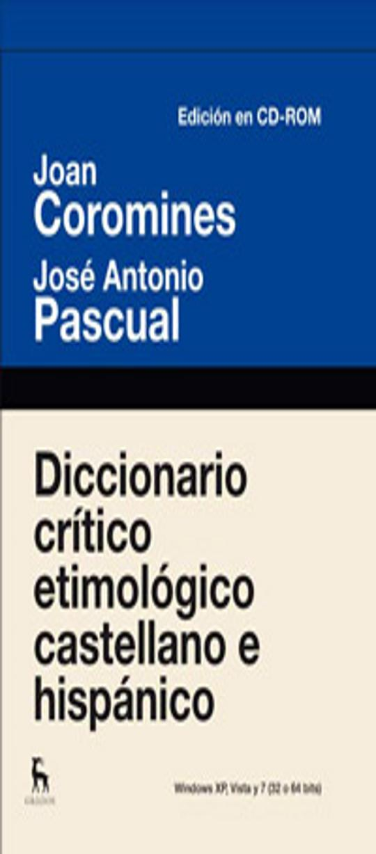 DICC  CRITICO- ETIMOLOGICO CD-ROM