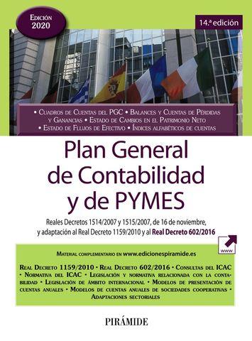 PLAN GENERAL DE CONTABILIDAD Y DE PYMES ED.20
