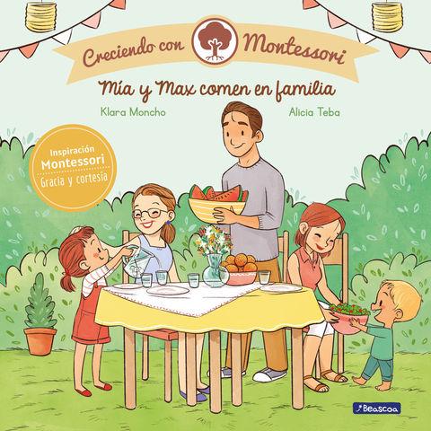 MIA Y MAX COMEN EN FAMILIA creciendo con montessori
