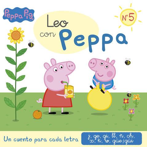 LEO CON PEPPA nº5 un cuento para cada letra j,ge,gi,ll,ñ,ch,x,k,w,gue.