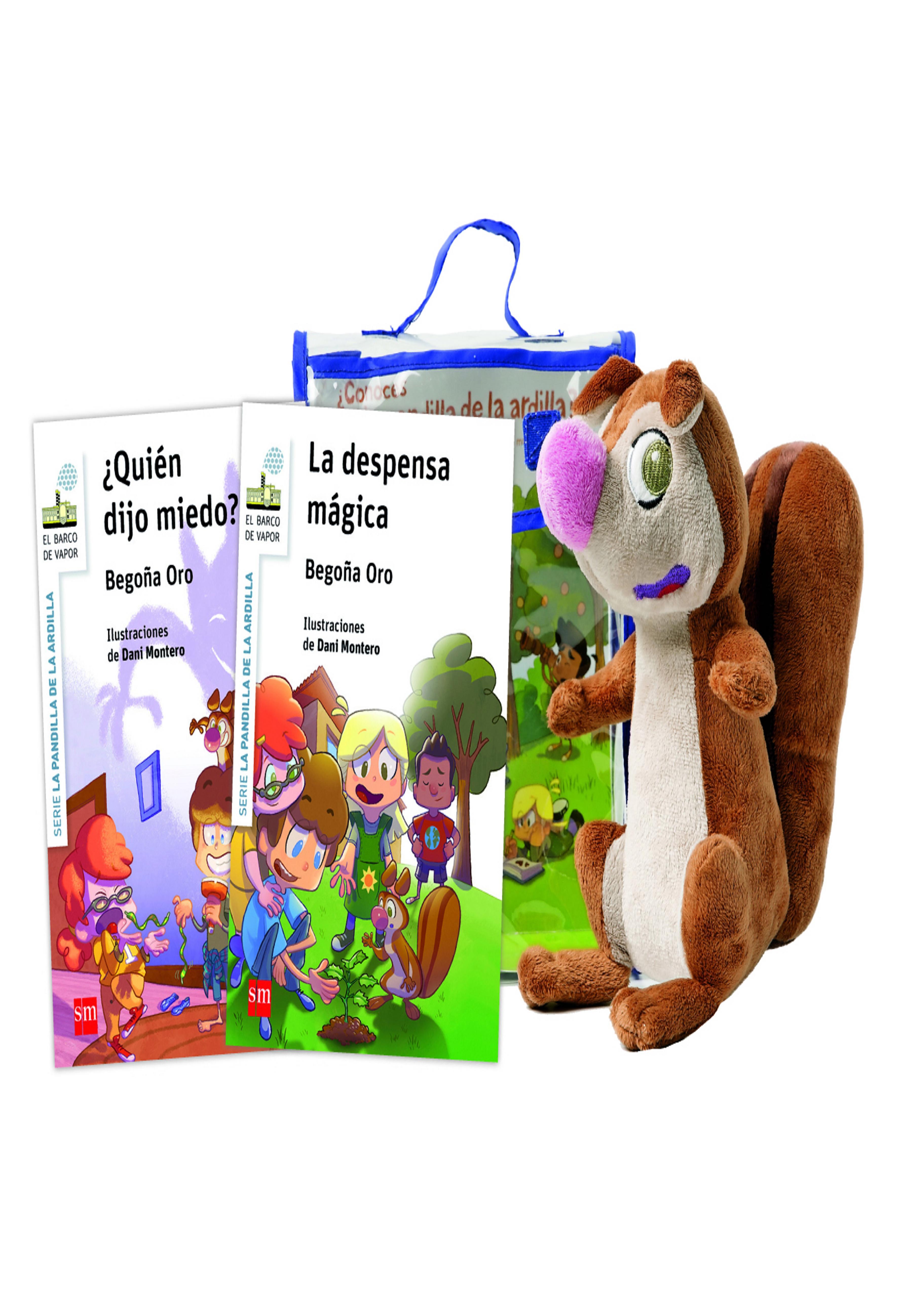 ARDILLA CON MASCOTA (MUÑECO + 2 CUENTOS)