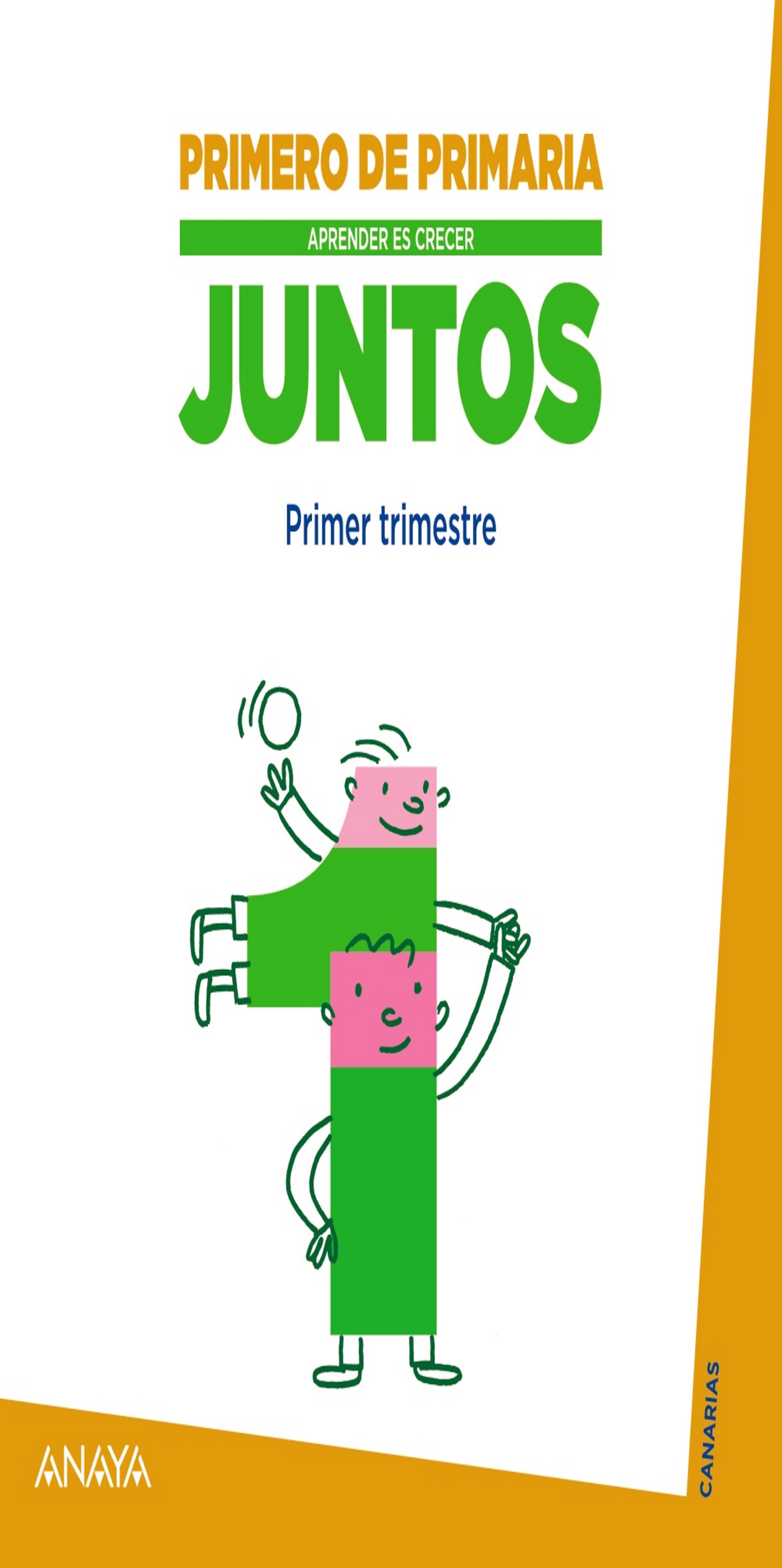 CUAD MATEMÁTICAS 1 JUNTOS Aprender es Crecer 1º PRIM Canarias