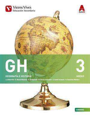 GEOGRAFIA E HISTORIA 3º ESO 3.1 / 3.2  Aula 3D + Anexo Canarias