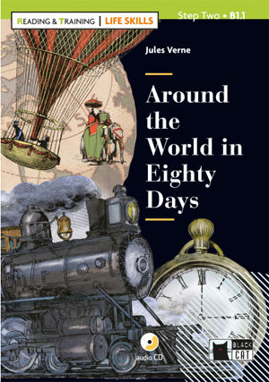 AROUND THE WORLD IN 80 DAYS Pack CD - Life Skill  Black Cat