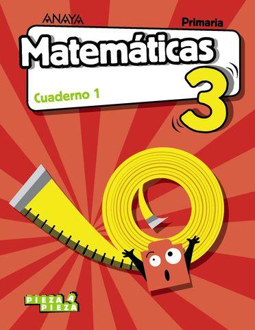 CUADERNO DE MATEMÁTICAS 3º PRIMARIA PIEZA A PIEZA 1º TRIMESTRE
