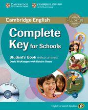 COMPLETE KEY FOR SCHOOLS SB + CD ROM (KET) - English Spanish Speakers