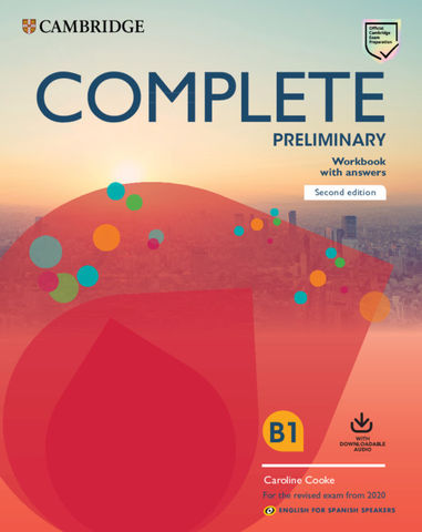 COMPLETE PRELIMINARY (PET)  WB + Answers + Audio Ed 2020 Eng Spani Spe