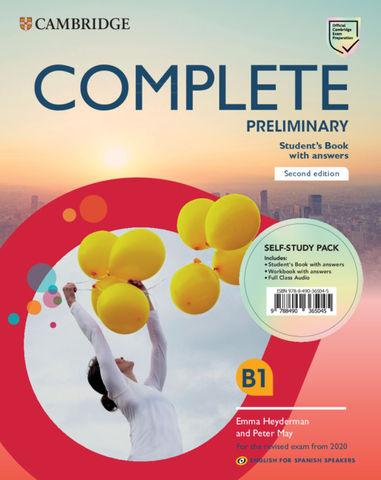 COMPLETE PRELIMINARY SB + key + WB + key + Audio Ed 2020 Eng Sp Spe