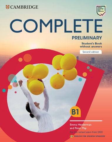 COMPLETE PRELIMINARY (PET) SB  Ed 2020 English Spanish Speakers