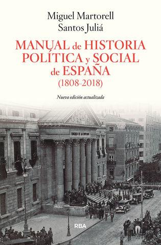 MANUAL DE HISTORIA POLITICA Y SOCIAL DE ESPAÑA 1808 2018