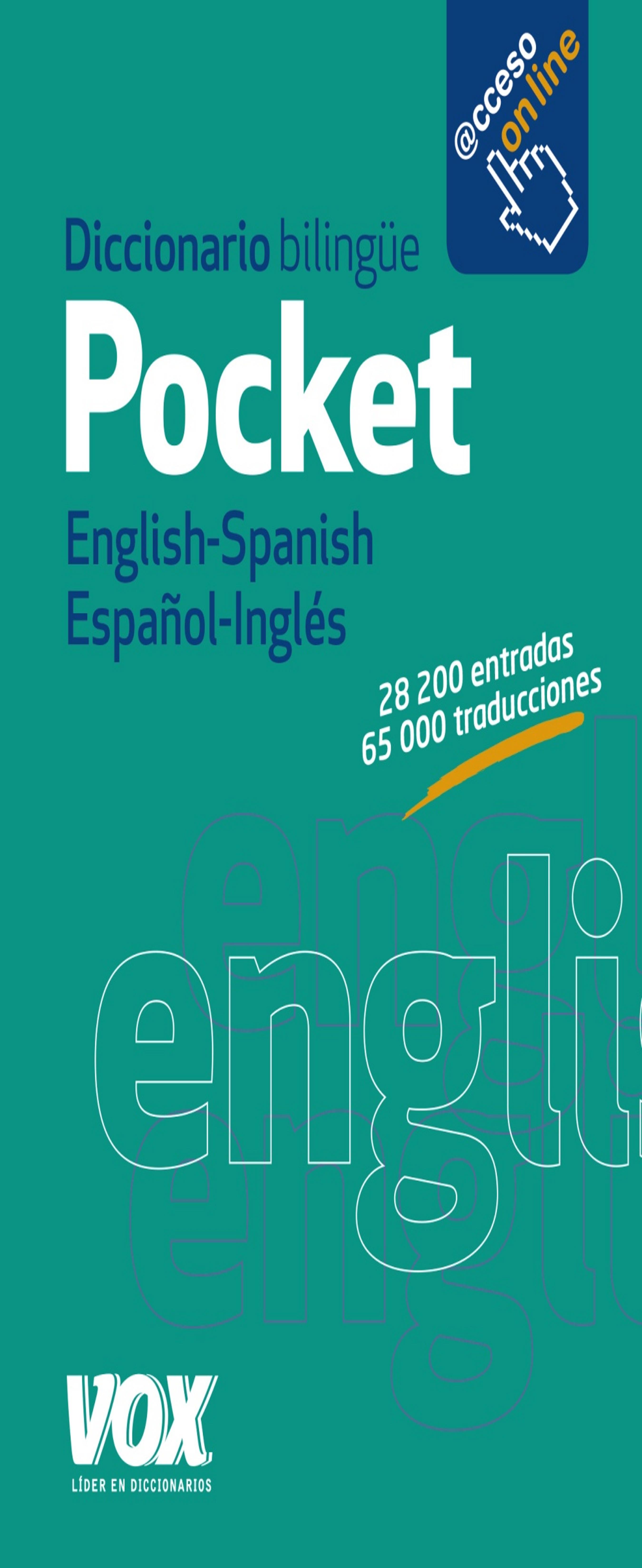 DICC Vox POCKET Inglés - Español / Esp - Ing  Ed. 2016 Acceso Online