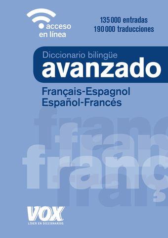 DICC Vox AVANZADO + Versión On Line Francés - Español/ Es- Fr  Ed.2019