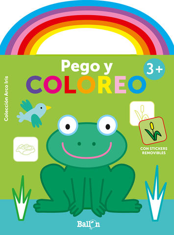 ARCO IRIS PEGO Y COLOREO +3 RANA
