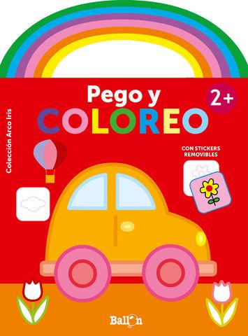 ARCO IRIS PEGO Y COLOREO +2 COCHE
