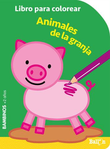 COLOREAR BAMBINOS - ANIMALES GRANJA
